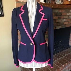 Lilly Pulitzer Malibu Blazer Jacket Blue Pink Sz S